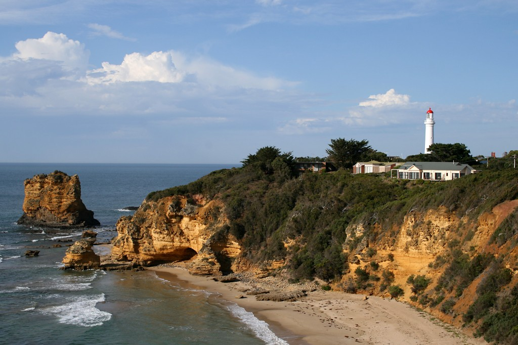 Split Point Lighthouse, Aireys Inlet, Victoria, Australia Image: Mike Lehmann, via WikiMedia Commons.